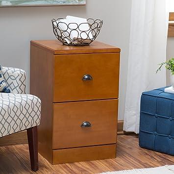 Belham Living Cambridge 2 Drawer Wood File Cabinet   Light Oak