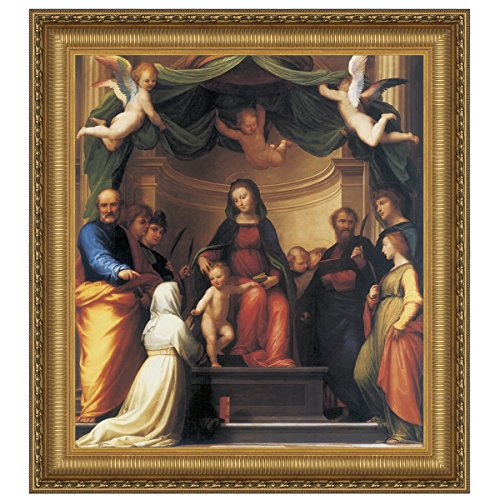 Design Toscano The Mystic Marriage of St. Catherine of Siena with Eight Saints, 1511: Canvas Replica Painting, Medium by Design Toscano