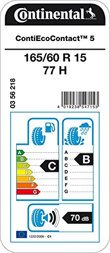 Neum/ático de Verano Continental EcoContact 5-165//60R15 77H