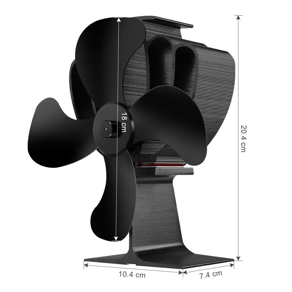Finether - Ventilador de estufa Ecofan alimentado por calor: Amazon.es: Bricolaje y herramientas