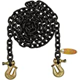 B/A Products G8-3810TL Grab Hook with Twist Lock Each End, 3/8' Grade 80 Chain x 10', 4 Height, 6.75 Width, 17 Length