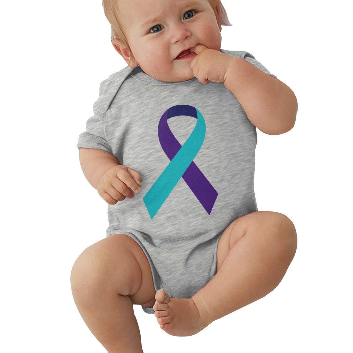 Infant Baby Girl Boy Suicide Prevention Awareness Ribbon BodysuitRomper Jumpsuit Short Sleeved Bodysuit Tops Clothes
