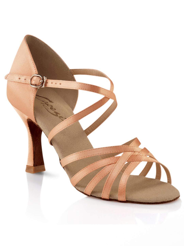 Capezio Women's Rosa 2.5'' Social Dance Shoe,Camel Satin,8.5 W US by Capezio