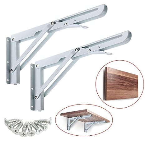 Staffe Per Tavoli Pieghevoli.Dproptel Regolabile Robusti Mensole Pieghevoli Resistente Metallo