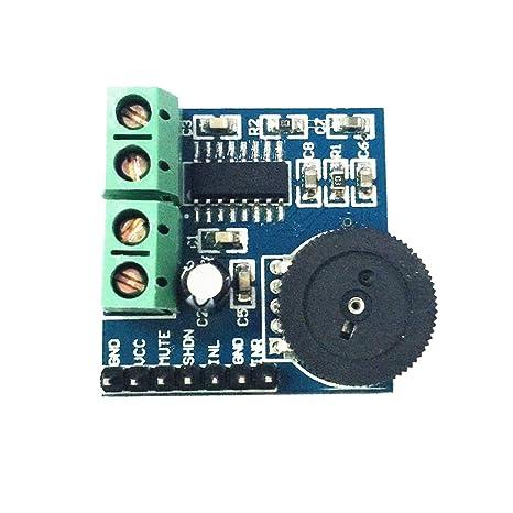 Homyl Mini Módulo de Amplificador de Potencia de Placa de Circuito Amplificador de Audio PAM8403 dual