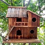 Cheap QTMY Preservative Wood Bird Houses for Outside Hanging Garden Decor,Birds Nest Box(S)