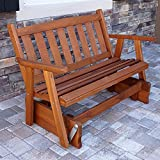 Porchgate Amish Made Mission Red Cedar Porch Glider (5 Foot)