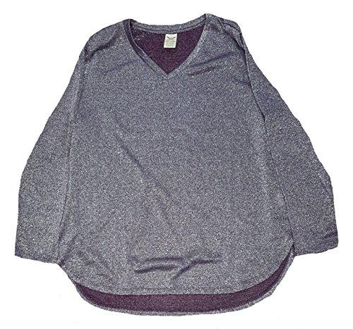 Faded Glory Women's Plus Size Purple Pearl Long Sleeve Hacci Shine Top - 4X from Faded Glory