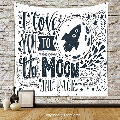 FashSam Tapestry Wall Hanging Celestial Love My Other Half Floating ATOP of A Cloud Never Let Go Concept Decorative Tapestries Dorm Living Room Bedroom(W59xL78) ()