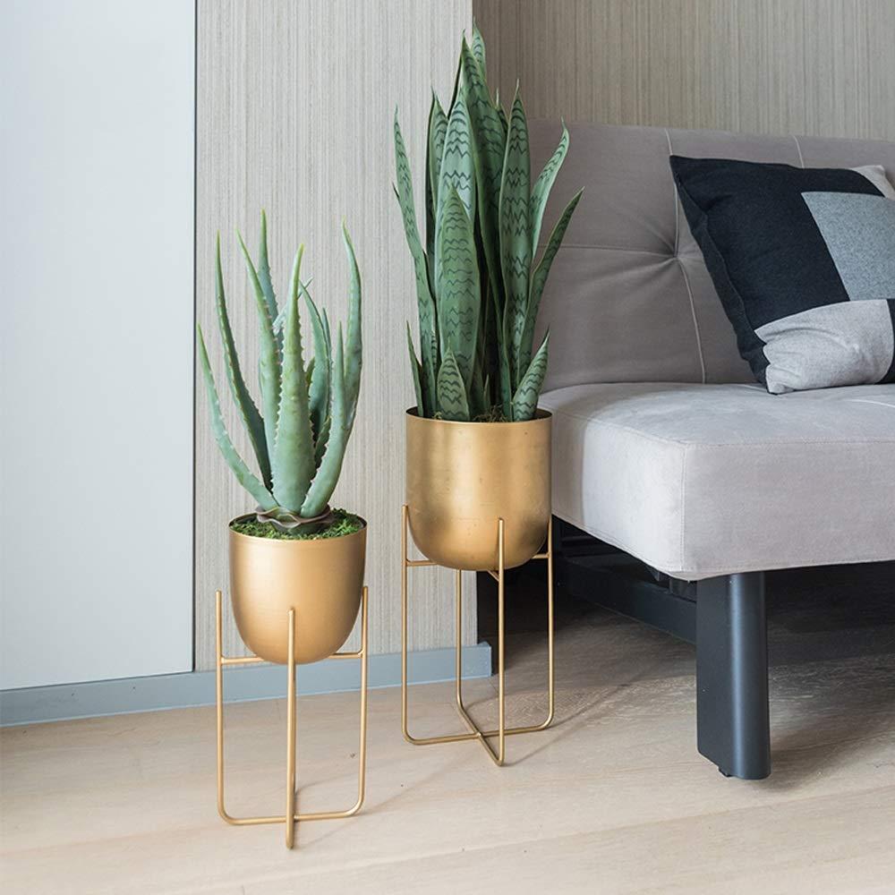 Amazon.com: Fighch Nordic Living Room Metal Frame Flower Pot ...