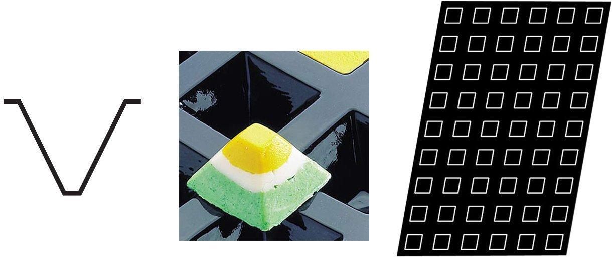 Flexipan 336012 Pyramid Nonstick Sheet Mold