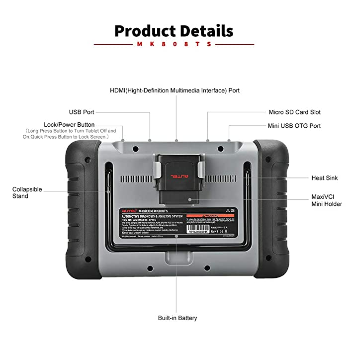 Autel MaxiCOM MK808TS is one of the best obd2 scanners