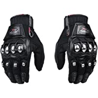 Steel Outdoor Reinforced Brass Knuckle Motorcycle Motorbike Powersports Racing Textile Safety Gloves