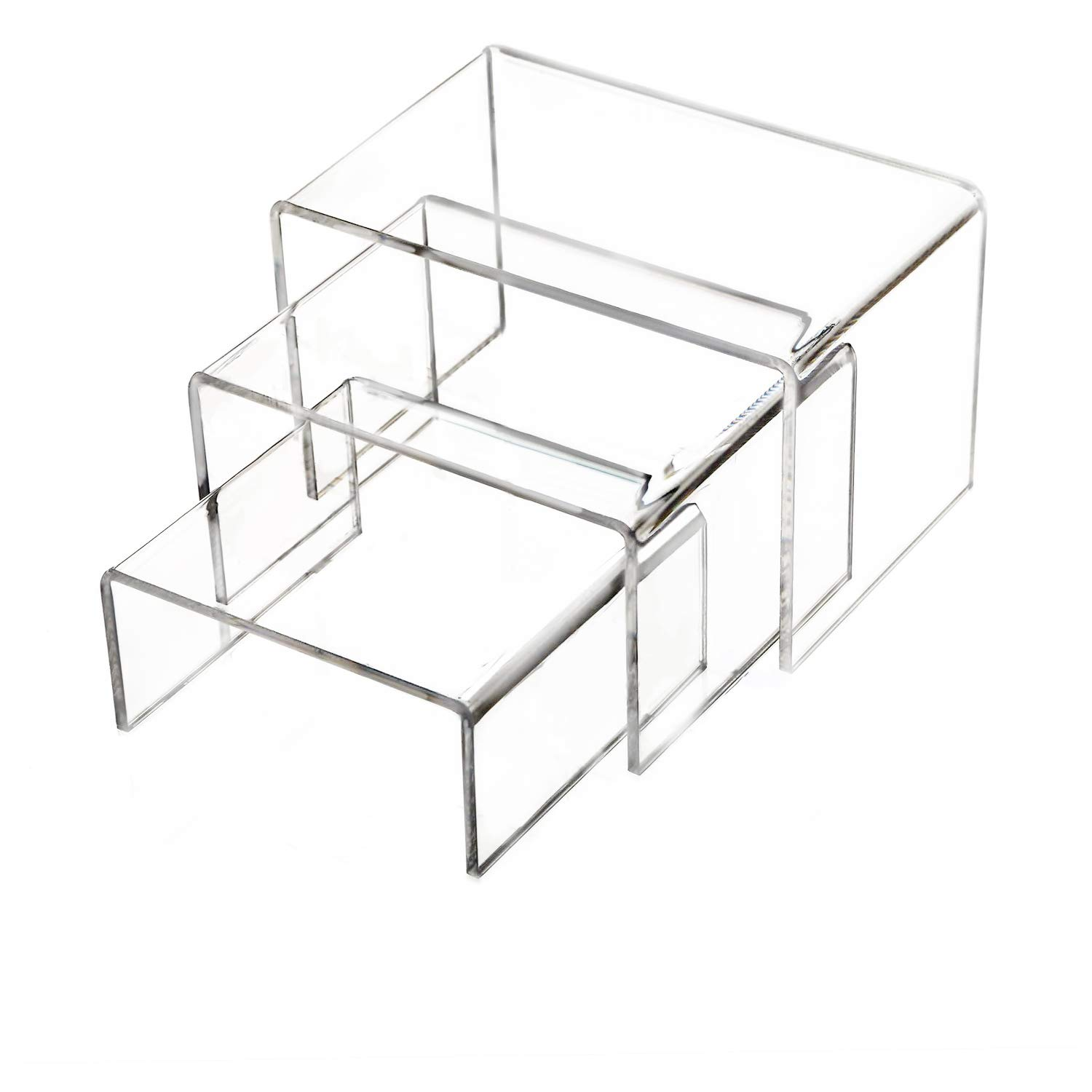 Square Riser Display Stand 5 x 5 x 5 clear acrylic Lot of 6