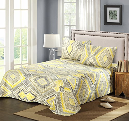 Tache Home Fashion KST1503-Single 2 Piece Modern Yellow Summ