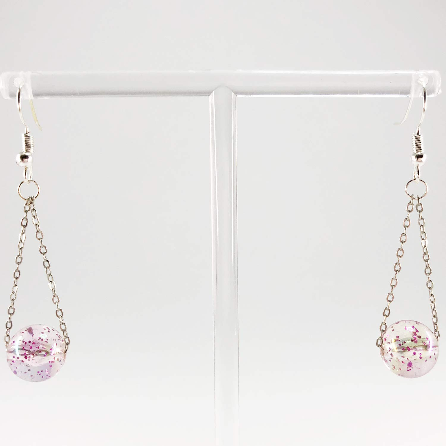 CUTIFICIAL Long Marble Earrings For Women and Girls Clip-on Exchange Available