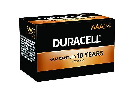Duracell, MN2400BKD, Standard Battery, AAA, Alkaline, PK24