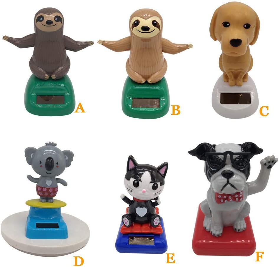 Gift for Adults /& Kids Swinging Animated Bobble Dancer Car Dashboard Decoration Cute Animal Figure Model Sloth Dog Cat Koala Doll Toy Juesi Solar Dancing Toy