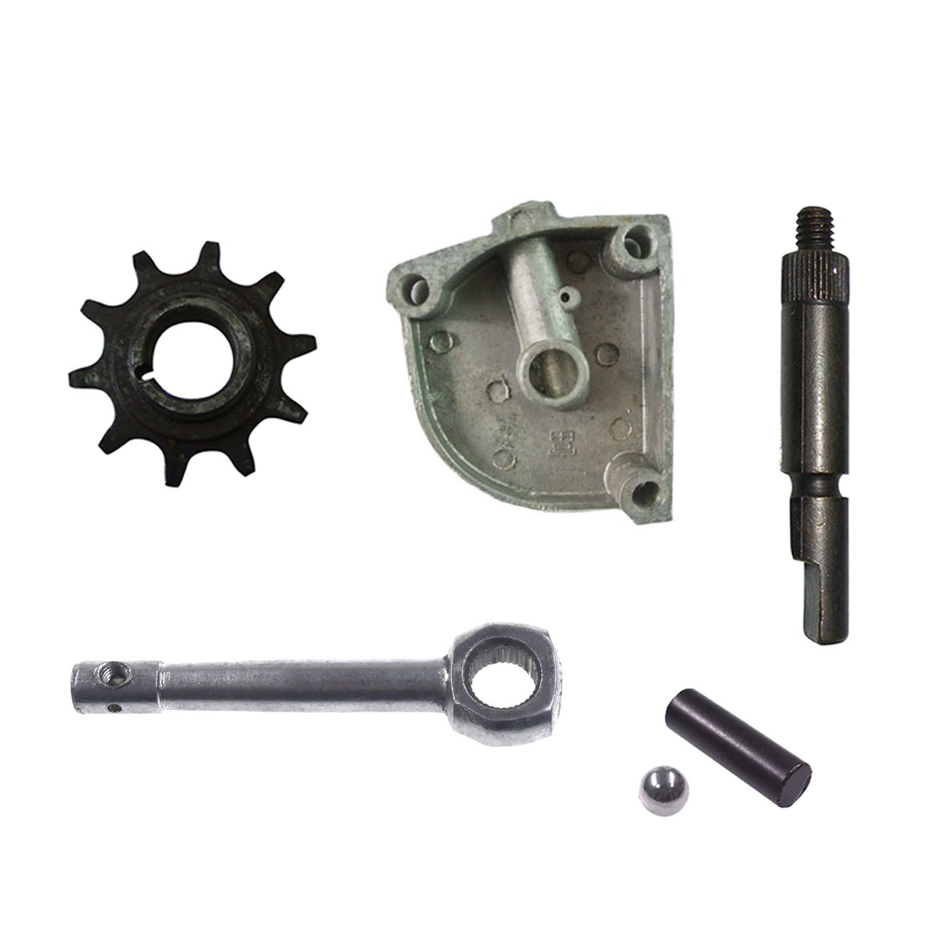 NORTHTIGER 3 Holes Clutch Cover Clutch Arm Lever 10Tooth Drive Sprocket for Motorized Bike