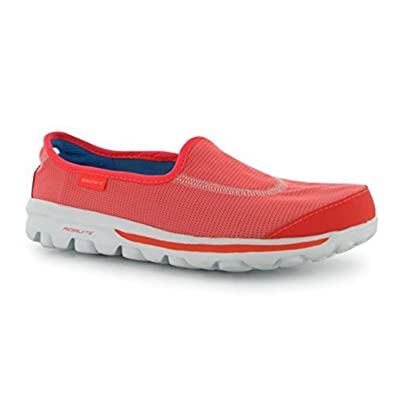 Skechers Womens Go Walk Rec Ladies Fitness Sport Training Casual Shoes Coral  UK 5