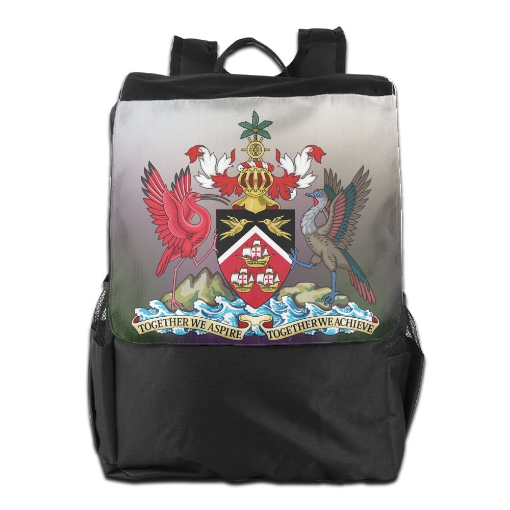 Nollm Coat Of Arms Of Trinidad And Tobago Fashion Backpack Travel Shoulder Bag For Men Women And Teens