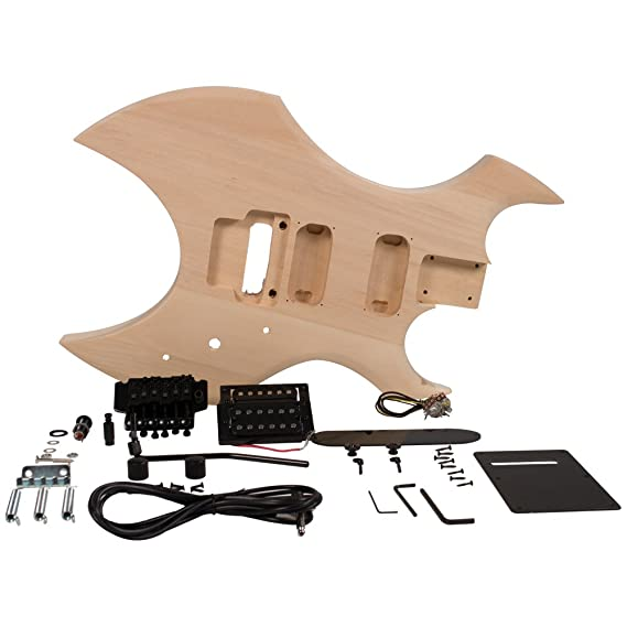 Seismic Audio - sadiyg-16 - PREMIUM Warlock estilo DIY - Kit de guitarra eléctrica sin terminar Kit de proyecto de Luthier: Amazon.es: Instrumentos ...