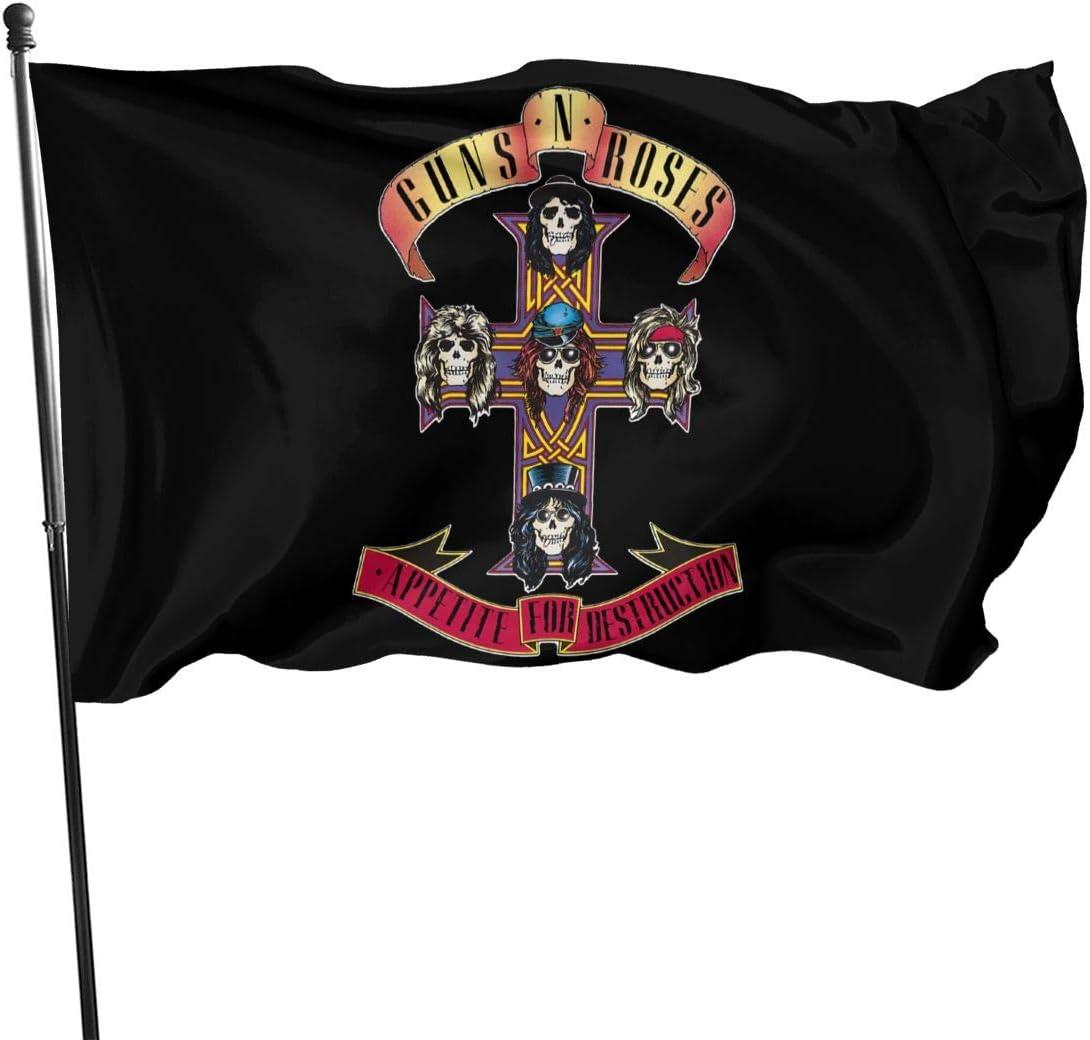 MarcoBLyons Guns N Roses Appetite for Destruction Garden Flag Home Decorative Flag Yard Personalized Banner Indoor Outdoor 3 X 5 Ft