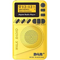 Docooler P9 Mini Pocket Dab/FM Radio Digital FM Demodulador Digital con Pantalla LCD Reproductor de MP3 portátil Ranura…