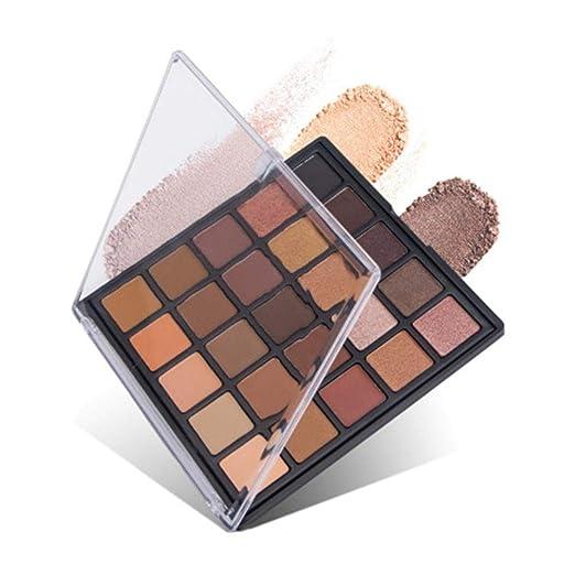Biback Mate paleta de sombras de ojos, 25 colores Pearly Lustre Paleta de sombras de ojos universales, juego de maquillaje: Amazon.es: Belleza