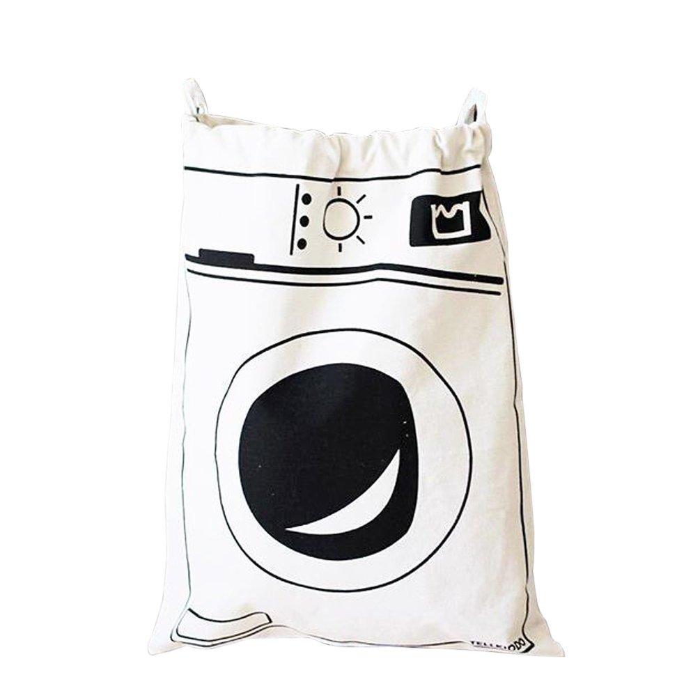 verthomeキャンバス巾着ランドリーバッグストレージバッグ家庭用オーガナイザートイSorting Bag ホワイト SLB001 B074QHMZVW Washing Machine Washing Machine