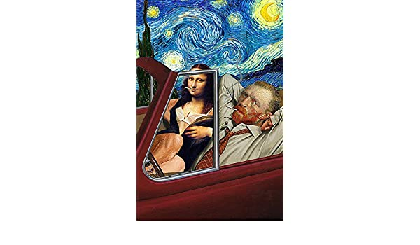 Starry Night Barry Kite Humor Funny Print Poster 18x26