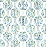 A-Street Prints 2702-22738 Versailles Teal Floral Damask Wallpaper,