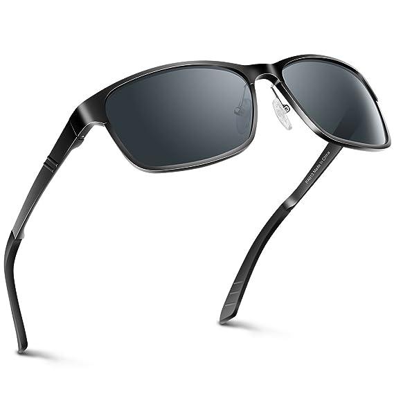 9f6617d6949 PAERDE Sunglasses man Polarised Lens Driving Glasses Al-Mg Metal Frame Retro  Unisex Sunglasses  Amazon.co.uk  Clothing