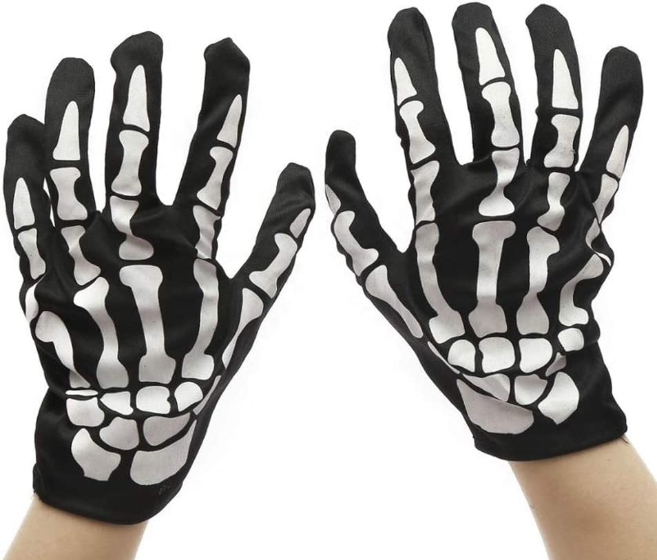 Cool Scary Printed Luminous Gloves - Halloween Costume Party Cosplay Accessories