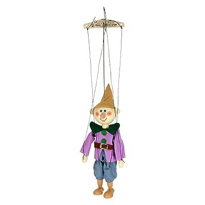 ABA 20cm en bois Nain Simplet Marionnette Jouet (Multicolore)