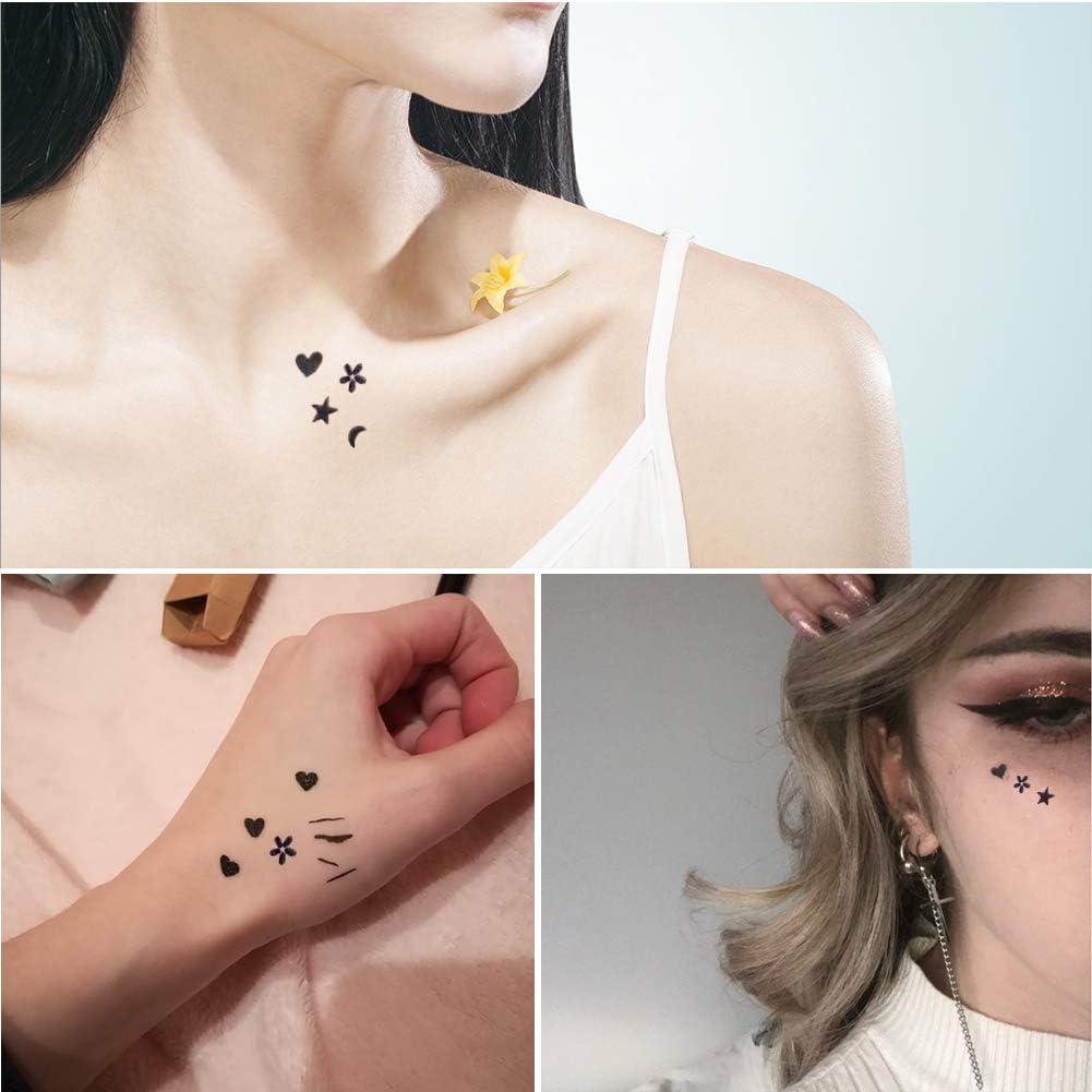Dsaren Delineador de Ojos Negro Sello Del Tatuaje Lapiz De Ojos ...