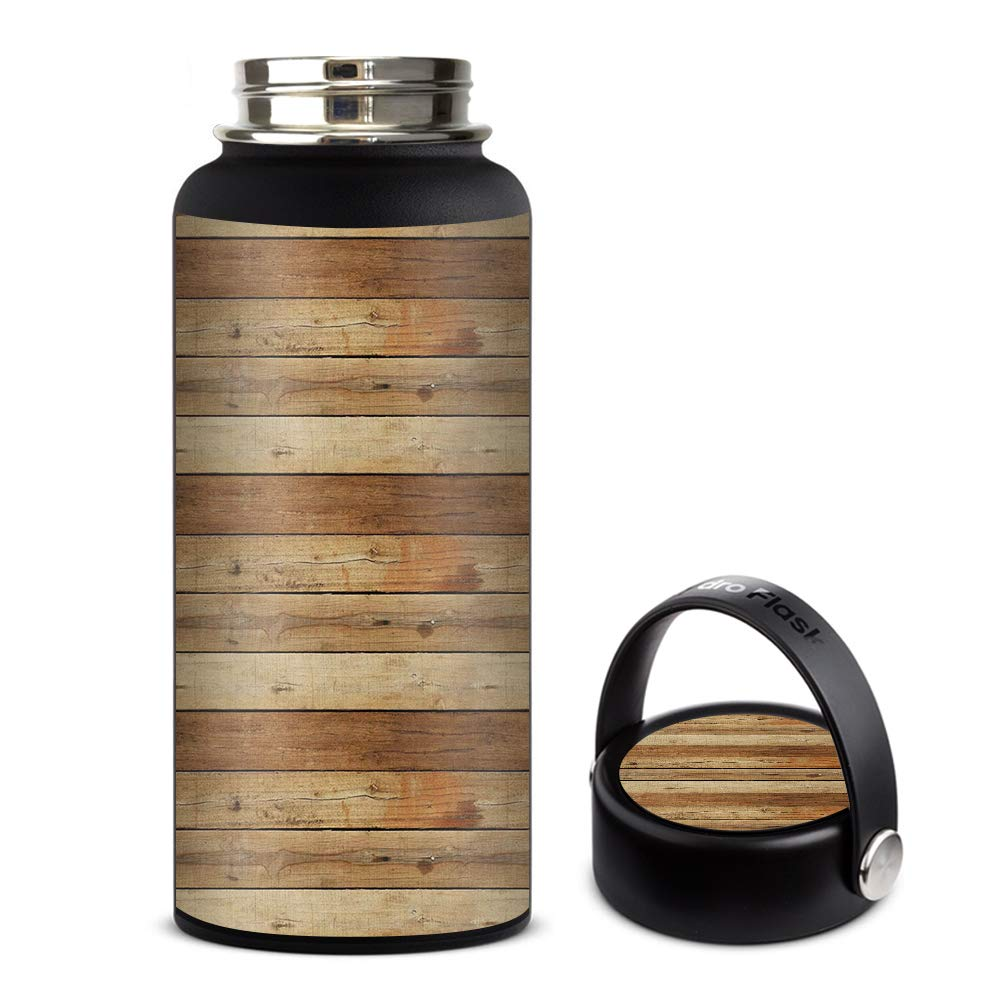 Skin Decal Vinyl Wrap for Hydro Flask 32oz Wide Mouth Skins Stickers Cover/Wood Panels Plank
