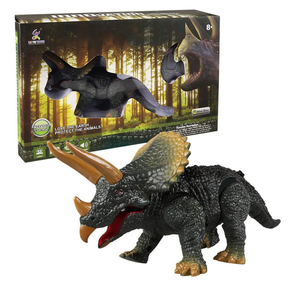 Symboat D/ém/énagement en Mouvement Roaring Dinosaure T/él/écommande /Électronique Lumi/ère Sonore Enfants Jouet Halloween Cadeaux