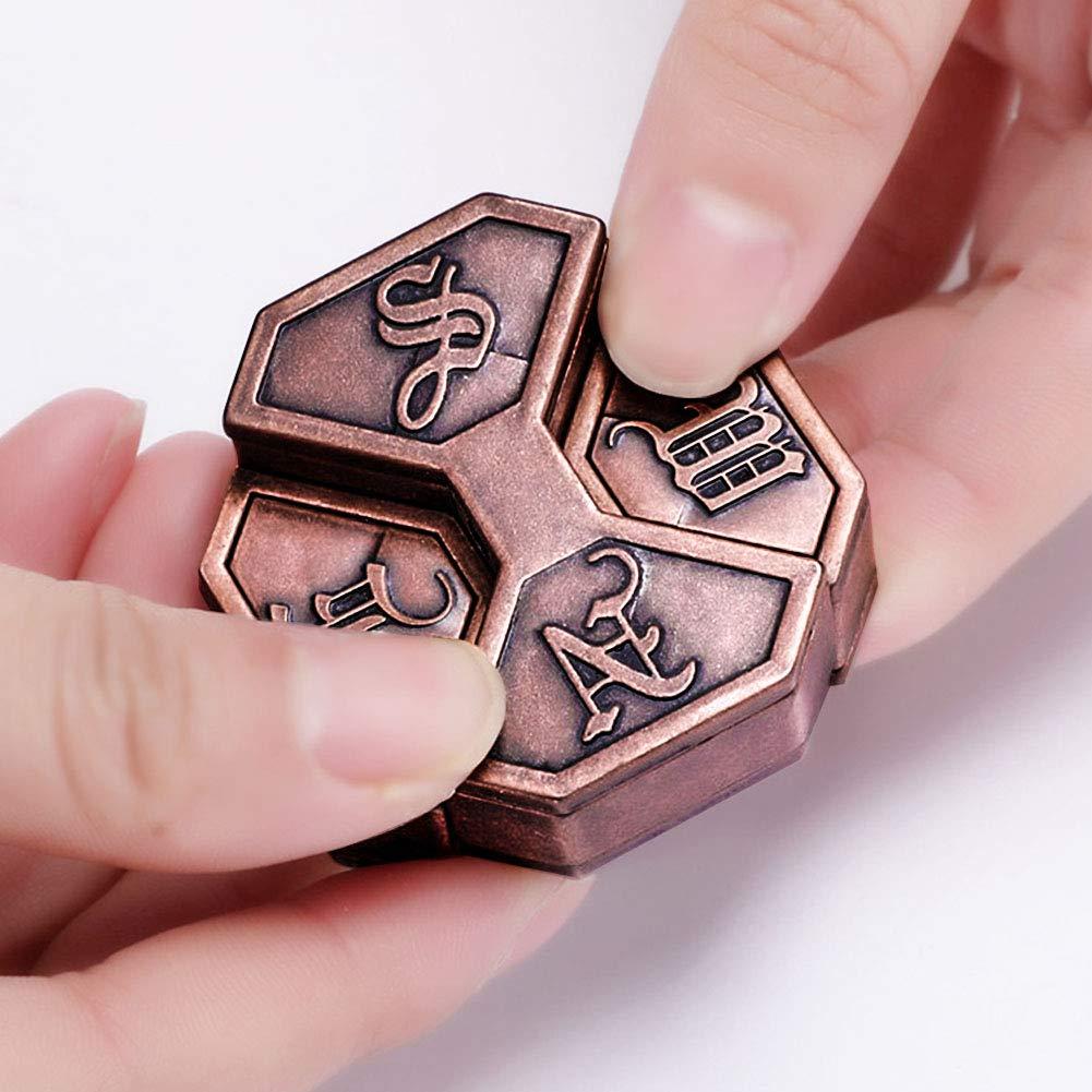 Divertido Metal para Adultos Magia IQ EQ Regalo de Inteligencia Juego de Aula Caja de Entrenamiento Vintage nakw88 Juguete Educativo para el Cerebro para ni/ños 4.5 x 4.5 x 1.3 cm Menta