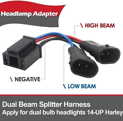 Belt&Road Dual Beam Headlight Splitter Harness Adapter For Harley Road on dodge wiring harness, jeep liberty wiring harness, jeep commander wiring harness, jeep yj wiring connectors, jeep wk wiring harness, jeep wrangler wiring, 1974 jeep cj5 wiring harness, jeep yj radio wiring diagram, jeep yj dash wiring, jeep jk wiring harness, jeep cj5 wiring-diagram, jeep compass wiring harness, jeep xj wiring harness, jeep grand wagoneer wiring harness, jeep 4.0 wiring harness, jeep cherokee wiring harness, jeep cj7 wiring harness, pontiac grand am wiring harness, volkswagen westfalia wiring harness, silverado wiring harness,