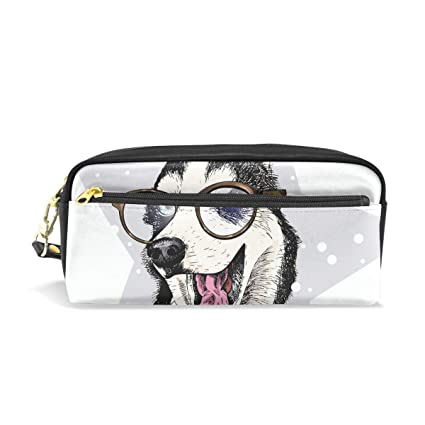 Divertido perro Husky con gafas de sol, estuche escolar para ...