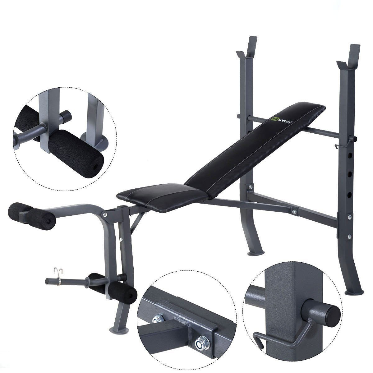 Goplus Adjustable Fitness Weight Lift Sit up Bench - By Choice Products