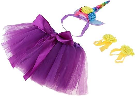 homyl Juego de mini falda de tul banda Unicornio flor de pulsera ...