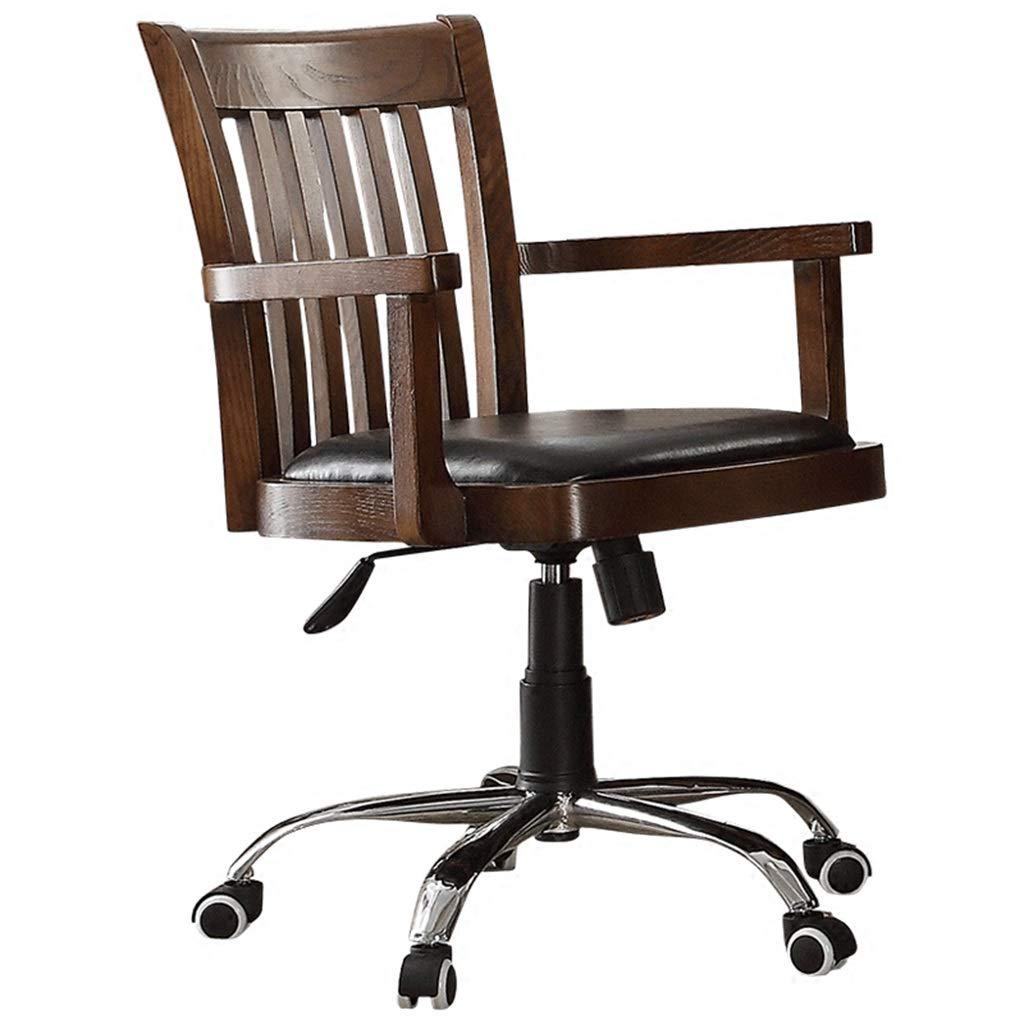 Amazon.com: Silla de oficina de madera maciza silla respaldo ...