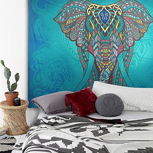 Dealpeak Wall Hanging Tapestry Indian Traditional Hippie Mandala Bohemian Magical Tapestry Wall Art, Dorm Décor,Bedspread, Beach Throw Sun Shawl Scarf (150 x 130cm)