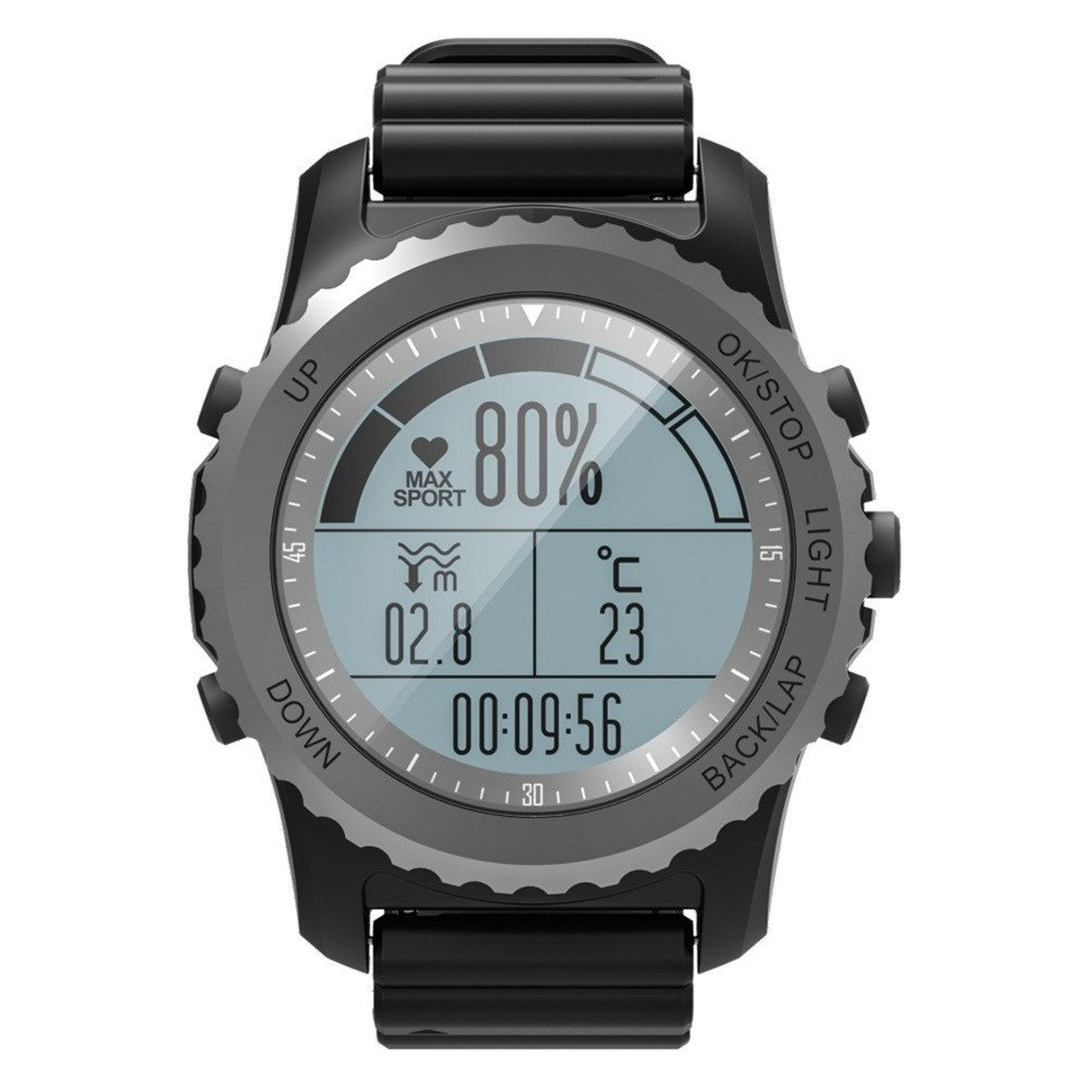 RTYou Fitness Tracker ,Men's Bluetooth Smart Watch Support GPS,Air Pressure,Call,Heart Rate,Sport Watch (Black)