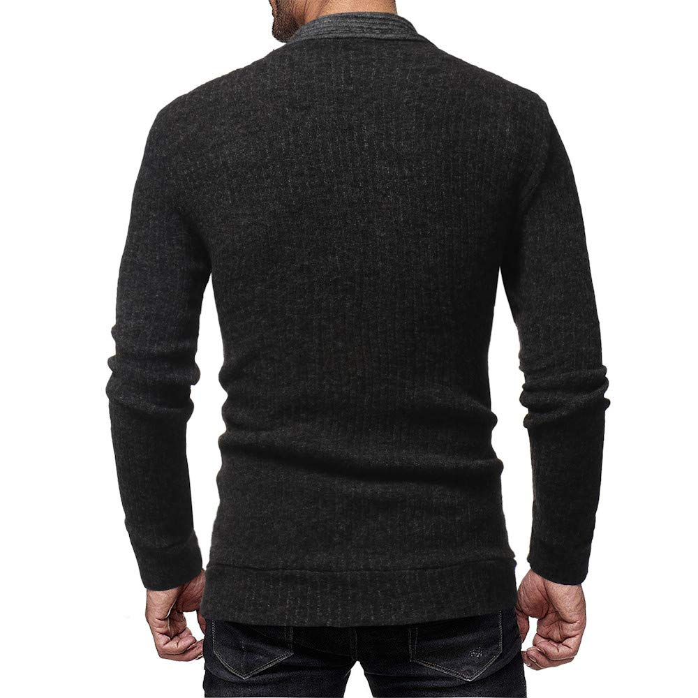 GOVOW Cotton Sweater for Men Fashion Solid Cardigan Sweatshirts Casual Slim Fit Jacket Coat at Amazon Mens Clothing store:
