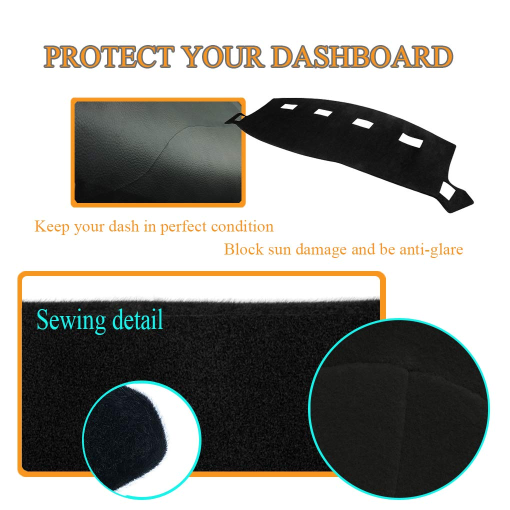 Gray Dash Cover Dashboard Cover Mat Pad for Dodge Ram 1998 1999 2000 2001 Y21