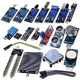 Kuman 16 in 1 Modules Sensor Kit Project Super Starter Kits for Arduino UNO R3 Mega2560 Mega328 Nano Raspberry Pi 3 2 Model B K62