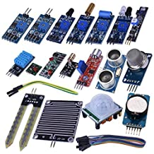 Kuman 16 in 1 Modules Sensor Kit Project Super Starter Kits for Arduino UNO R3 Mega2560 Mega328 Nano Raspberry Pi 3 2 Model B K62
